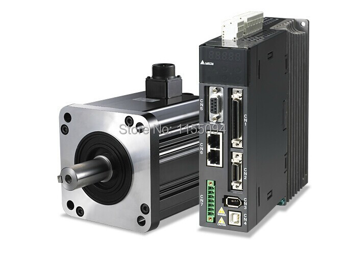 220V 1KW 4.77NM 2000RPM 130mm ECMA-E31310PS+ASD-A1021-AB Delta  AC Servo Motor & Drive kits 2500ppr with 3M cable delta servo controller asd a1021 ab 220v 1phase 1000w 1kw replacement parts