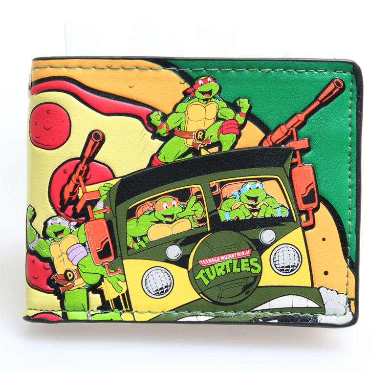 Teenage Mutant Ninja Turtles TMNT purse boys and girls students personality of animated cartoon wallet DFT-1041 free shipping 6 pieces lot teenage mutant ninja turtles action figure 4 hand done tmnt toy model for the boys giftht705