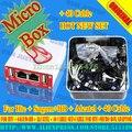 La versión neest micro caja completamente activado para htc + sagem + bb + alcatel + 40 juego de cables + caja de cable para htc + micro adaptador