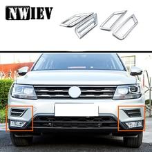 NWIEV 3D Adesivi Auto Per VW Tiguan 2017 Volkswagen Tiguan 2 Mk2 2018 Servosterzo Lampade Chromes ABS Riguarda la Disposizione Telaio Accessori