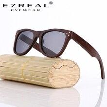EZREAL Fashion Bamboo Sunglasses Men Wooden Sunglasses Women Brand Designer Original Wood Sun Glasses Oculos De Sol Masculino
