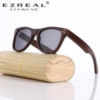 EZREAL Mode Bamboe Zonnebril Mannen Houten Zonnebril Vrouwen Merk Designer Originele Hout Zonnebril Oculos De Sol Masculino