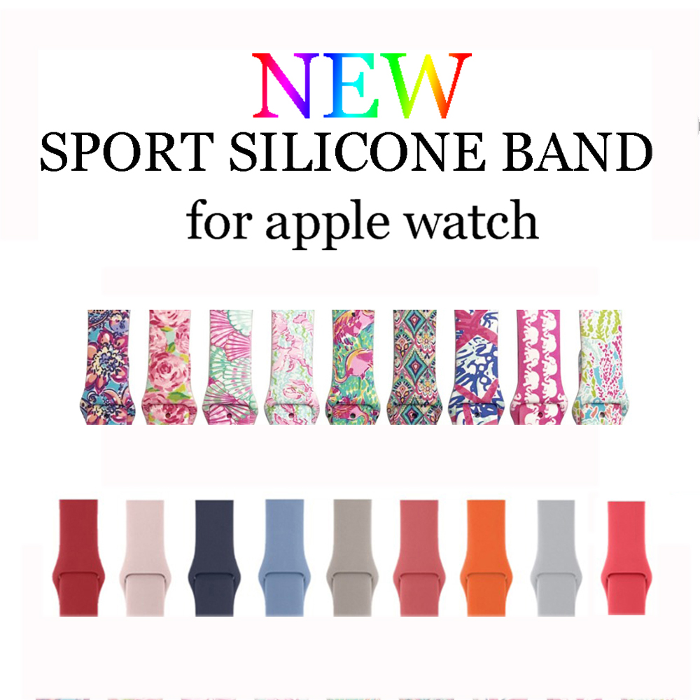 Sport Silicone strap for Apple watch band 44mm 40mm 42mm 38mm bracelet belt wrist watchband iwatch series 4/3/2/1 Accessories цена