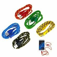 8 цветов плетеный провод Micro USB кабель 1 м 3 фута нейлоновый кабель для синхронизации зарядного устройства для сотовых телефонов xiaomi redmi note 3 s