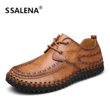 Mens Casual Leather Moccasins Shoes Male Luxury Lace Up Classic Shoes Wedding Dress Formal Business Flats Shoes AA11606