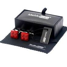 Memolissa витринная коробка запонки красные блоки для мужских