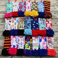 AICTON New Arrival High Quality Girls Ruffle Pants Custom Kids Printed Baby Leggings 100 Cotton