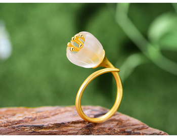 Natural Crystal Handmade Fine Flower Ring25