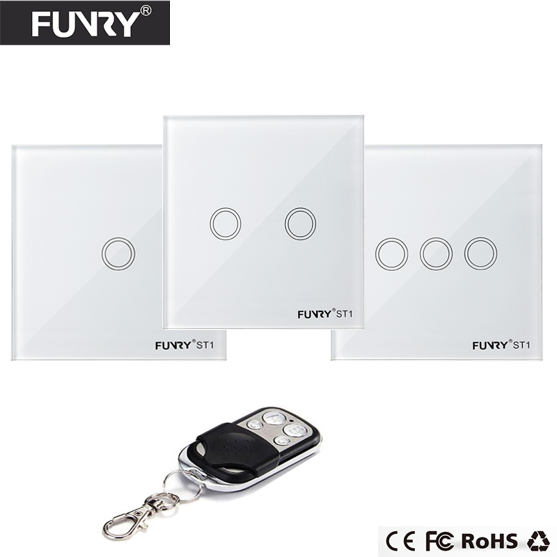 Funry  EU Wireless 1 2 3 Gang WiFi Light Switch,Smart Home Automation Remote Control Touch Panel Switch Via Broadlink RM Pro eu 1gang smart home domotica remote control light switch wireless remote glass panel switch automatic touch screen lamp switch