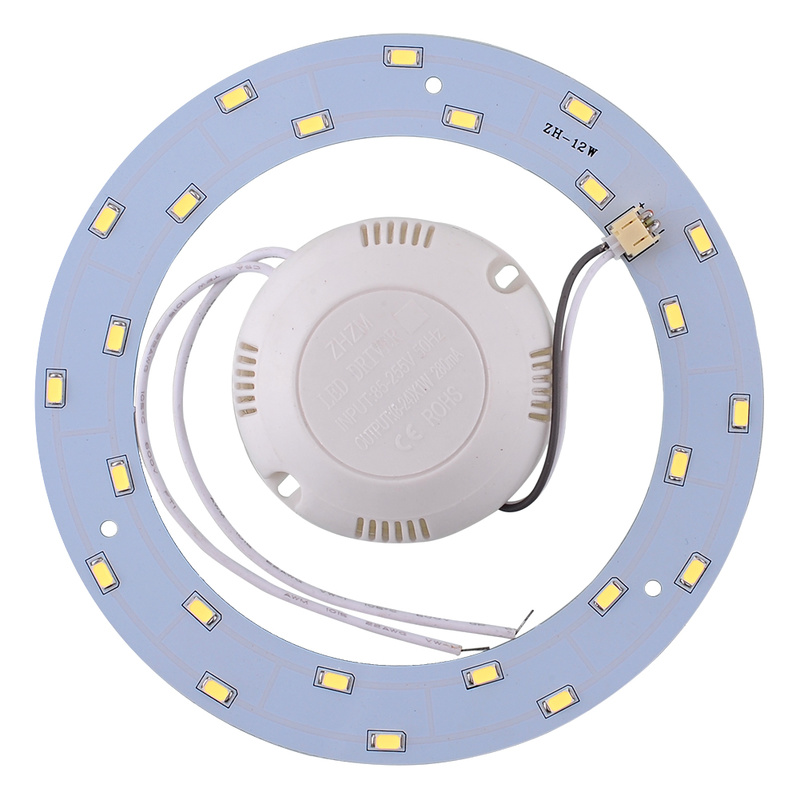 12W 5730 LED Ring Panel Circle Annular Ceiling Light Lamp Fixture Board Lamp 220V Round Ceiling Board The Circular Lamp