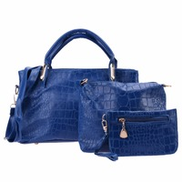Hot Sale Women Leather Composite Bags Crocodile Pattern Women Handbags Messenger Bag Female Crossbody Bags Clutches