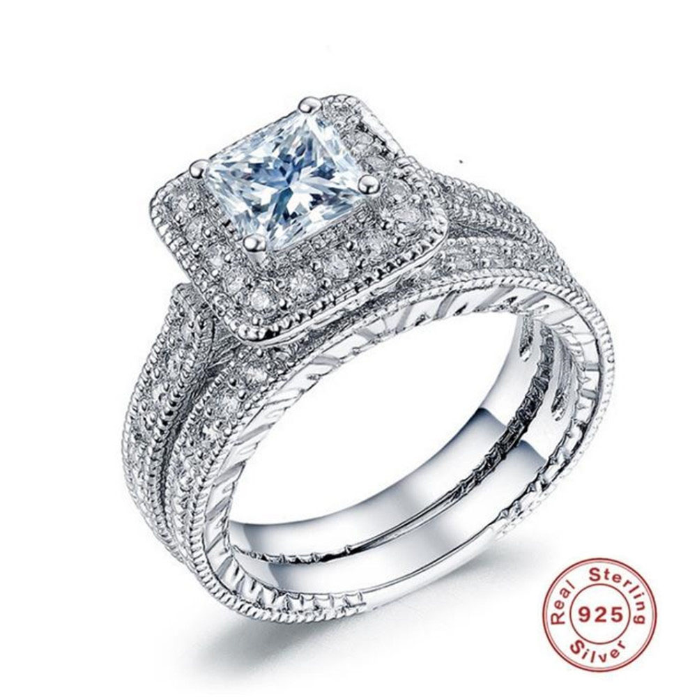 2018 BFQ Hot Sale Silver 925 Ring Engagement Women's