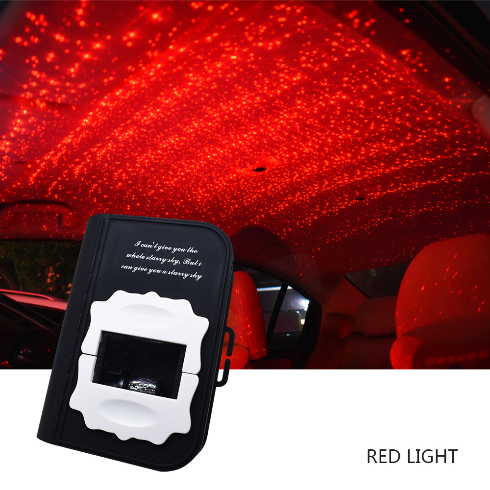 zjright usb carro dinamico superior fluxo de luz colorido luz da estrela azul verde vermelho colorido