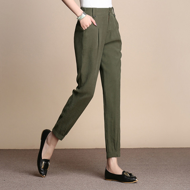 0be1cef307fb3 Harem pants women plus size 4 solid colour black white red green high waist  casual capris spring autumn summer trousers alx0701