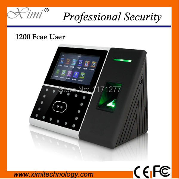 Iface302-H infrared camera 1200 face 4.3TFT touch screen TCP/IP network face fingerprint time attendance and access control