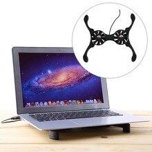 USB Mini Pulpo Portátil Notebook Fan Cooler Pad Plegable Coller Fan Con la Caja Al Por Menor Envío Gratis