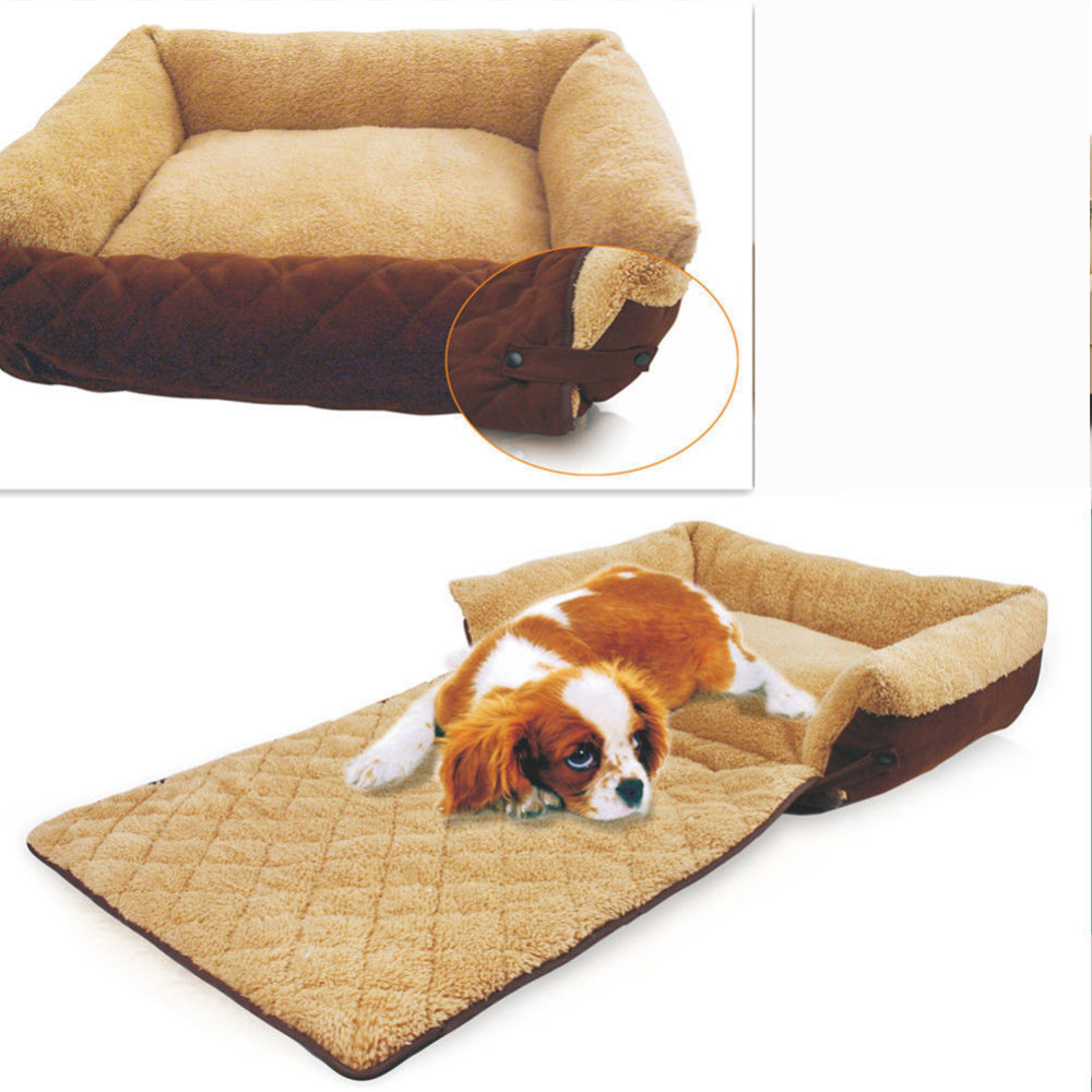 washable pet dog bed soft thermal puppy cushion sofa