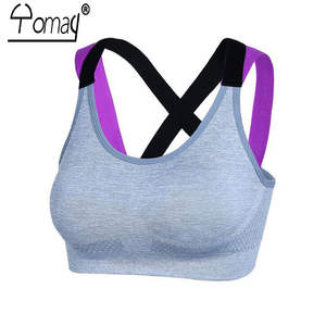 a554347462 Yomay Sexy Backless Women Sports Bra Sport Underwear Yoga Running Push Up  Padded