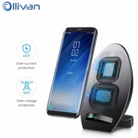 Universal Qi Wireless Charger For Iphone 7 Plus X 2 Coil Fast Wireless USB Mobile Phone