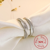 1 Pair 2015 New Classic Private Design Genuine 925 Sterling Silver Western Engagement Wedding Rings Couple