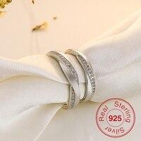 2 Cirkels Hoge Kwaliteit Eeuwige Bloem Cz Ring Liefhebbers Set Wit Goud Engagement Trouwringen voor Vrouwen Paar Sieraden