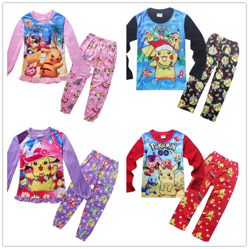 Children pokemon christmas Pajamas sets for girls pyjamas infant baby boy sleepwear nightgown t shirts & pants pijamas kids robe литой диск ifree куба либре 6x15 4x100 d67 1 et45 нео классик