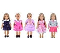 Мода 5 Наборы различных Стиль куклы вечернее платье, одежда для 18 дюймов American Girl 61l