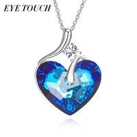 EYE TOUCH Fashion Jewelry Crystals From Swarovski Australian Rhinestone Blue Color Heart Shaped Women Valentine S
