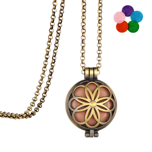 Clearance flower box necklace fashion jewelry elements aromatherapy clearance flower box necklace fashion jewelry elements aromatherapy pendant essential oils diffuser necklace aloadofball Image collections