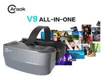 V9 все-в-одном виртуальной реальности 3D Очки с 1.2 ГГц Allwinner A33 4 ядра Поддержка Wi-Fi OTG F19628