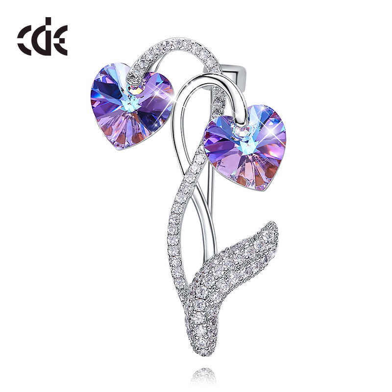 CDE Bijouterie Trendy Brooches For Women Embellished with crystals from Swarovski Brooch Pin Fashion Jewelry Womens Accessories