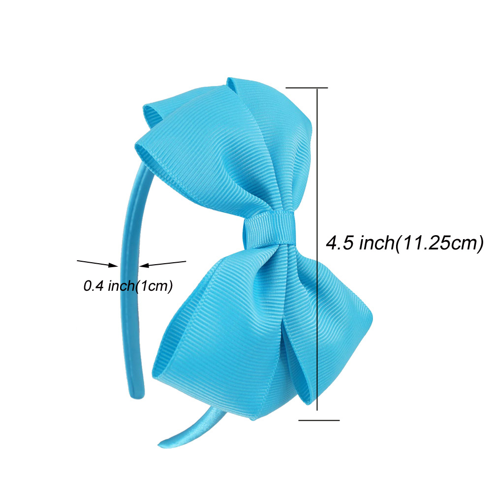 11 Pcslot Plain Ribbon Bow Hairbands