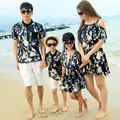 Family Set Fashion Clothing Dress Clothes for Mother and Daughter T-shirt+Shorts Clothing Sets for Father Son Beach Clothes ML70