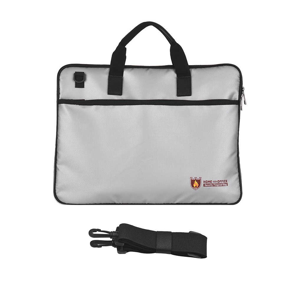 Органайзер огнеупорный мешок для документов с силиконовым покрытием огонь и водостойкий мешочек с плечевым ремнем, закрывающимся безопасной застежкой-молнией для хранения