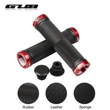 GUB New Rubber/Sponge/Leather Bicycle Handlebar Grips Anti-Skid MTB Road Bike Lockable Handle Grip Shock-absorbing Cycling