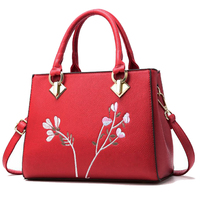 Women handbag shoulder bags pu leather tote ladies bags totes sac a main Famouse brand shoulder bag female flower handbags