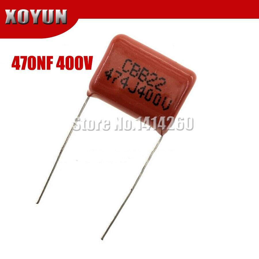 10PCS 400V474J 0.47UF Pitch 15mm 470NF 400V 474 CBB Polypropylene Film Capacitor