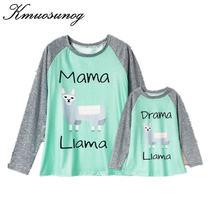 Одежда для мамы и дочки; Сезон весна лето; Милая футболка с