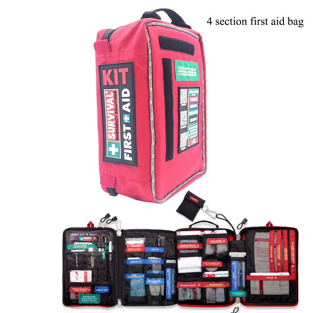 Image 4 - Handy First Aid Kit Waterproof Medical Bag for Hiking Camping Cycling Car Outdoor Travel Survival Kit Rescue Treatment-in Emergency Kits from Security & Protection