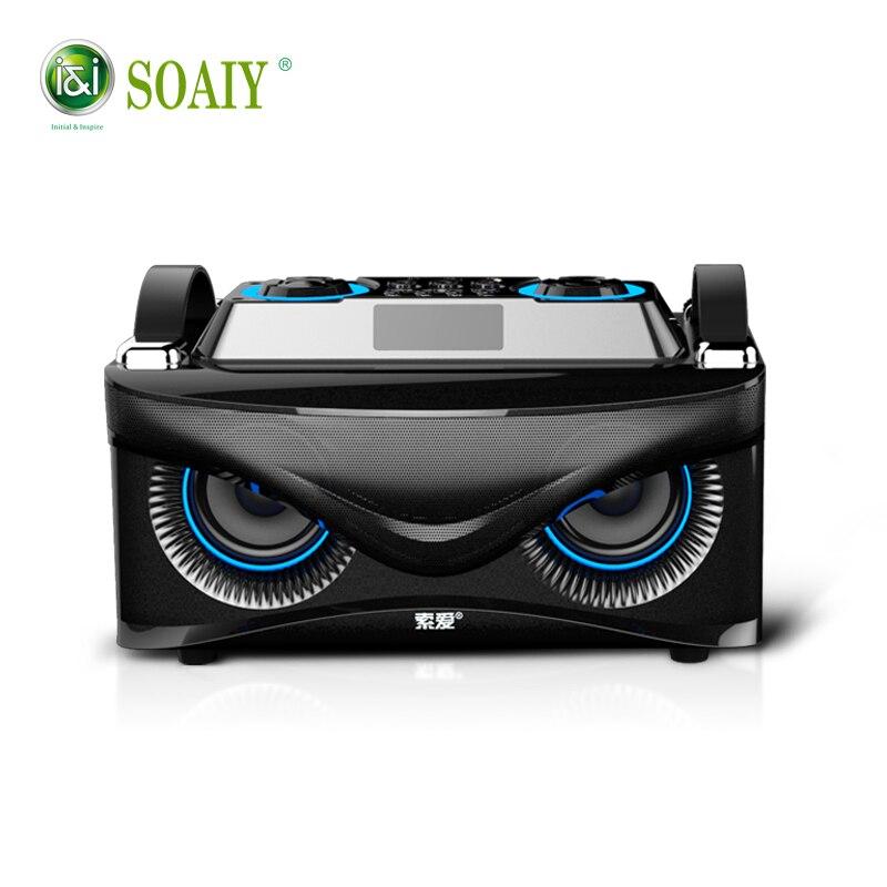 100% D'origine SOAIY S88 Aigle Bluetooth Basse Haut-Parleur 28 w Haute Qualité Haut-Parleur avec des Basses Haut-parleurs D'ordinateur grand haut-parleur