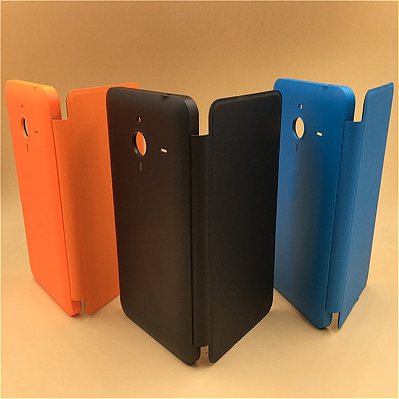 Vannego Battery Cover For Nokia Microsoft Lumia 640 XL Flip Shell PU Leather Door Case F ...