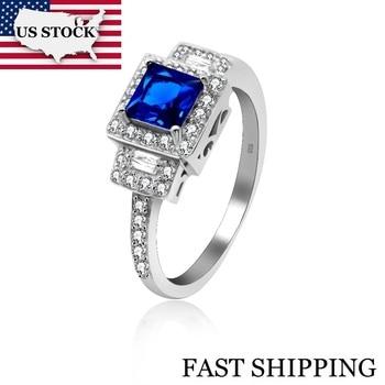 d98a48b1b266 USA STOCK Uloveido un par de anillos de boda conjunto chicas plata hombres  y mujeres encantos anillo ...