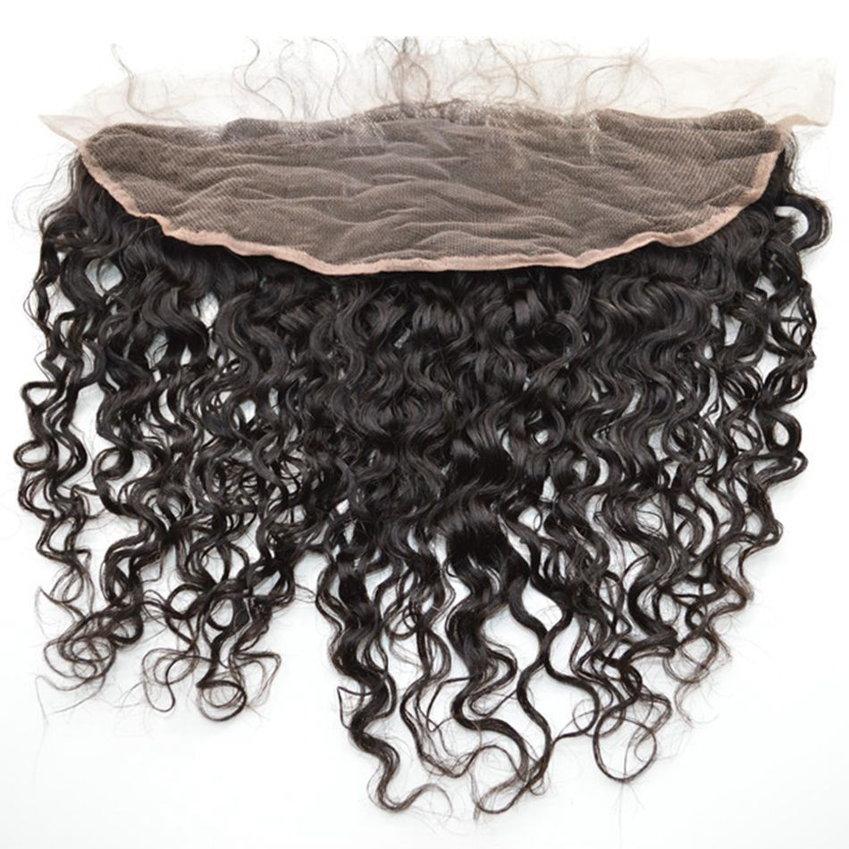 Curly beyonce curl,deep wave virgin Malaysian hair lace frontal bleached knots free ship instock hair for black woman (2)