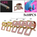 50Pcs 5/6/7/8/9mm Spring Clip Fuel Line Hose Water Pipe Air Tube Clamps Fastener S08 Drop ship