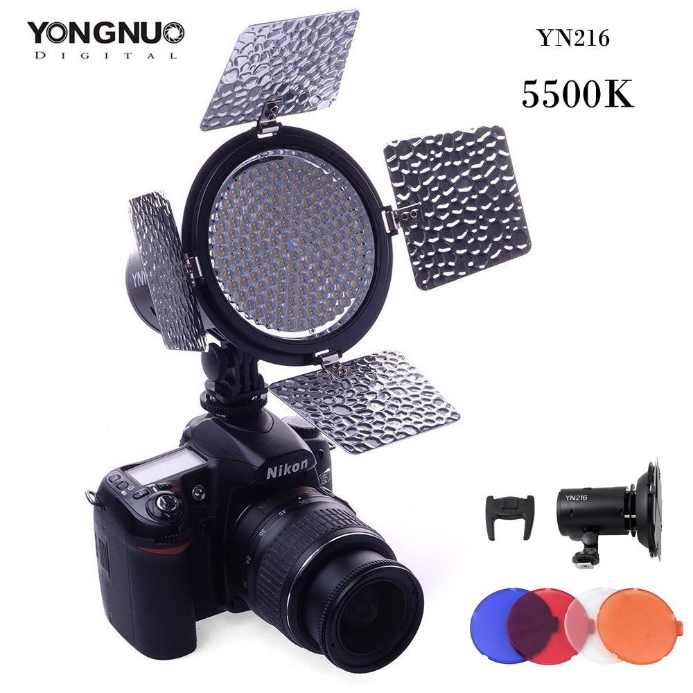 Prix pour YONGNUO YN216 LED Vidéo Lumière 216 LED Lampe Lumières Éclairage Photographique 5500 K pour Photo Studio DSLR Appareil Photo Caméscope
