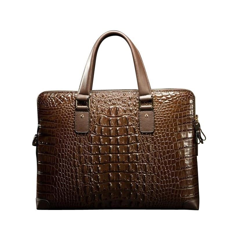 L# Crocodile leather cross section man handbag shoulder bag briefcase a business computer fengge crocodile leather single shoulder bag man cross section diagonal cross men bag crocodile leather casual crocodile bag
