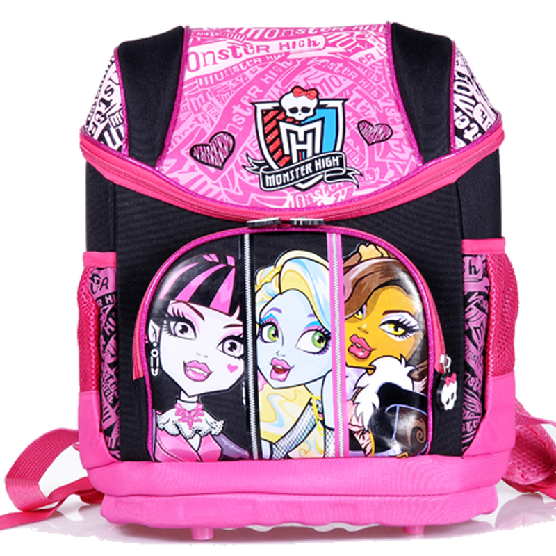ФОТО hot new arrival Children Oxford SPIDERMAND MONSTER HIGH KT cat school bag Backpack Cartoon school backpack for boys and girls