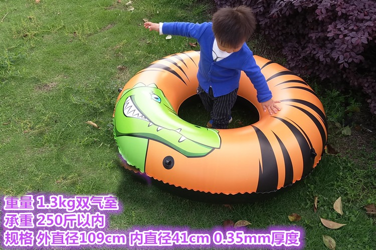 Children Pool Crocodile Inflatable Beach Toy Thicken Outdoor Kid's Boat Water Play Toy Children Inflatable Summer Water Pool