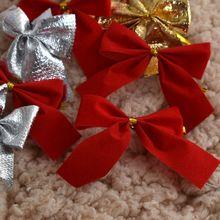 12 шт. бант, Рождественское украшение, Рождественская елка, праздничные вечерние бантики для дома, безделушки, украшение на год, свадьбу, событие, подарок