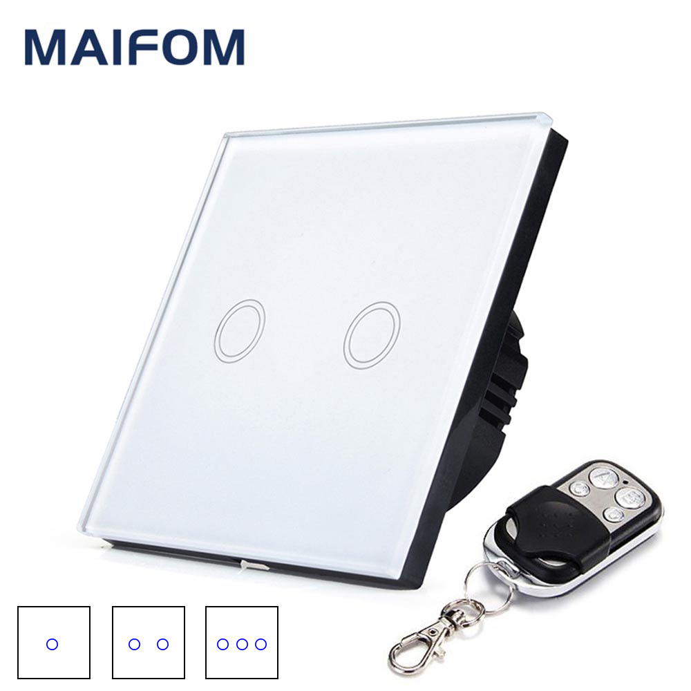 EU UK 86*86MM Wireless Switch Remote Control Touch Switch 1 Gang, 2 Gang, 3 Gang Waterproof Capative Motion Sensor Switch smart home eu touch switch wireless remote control wall touch switch 3 gang 1 way white crystal glass panel waterproof power